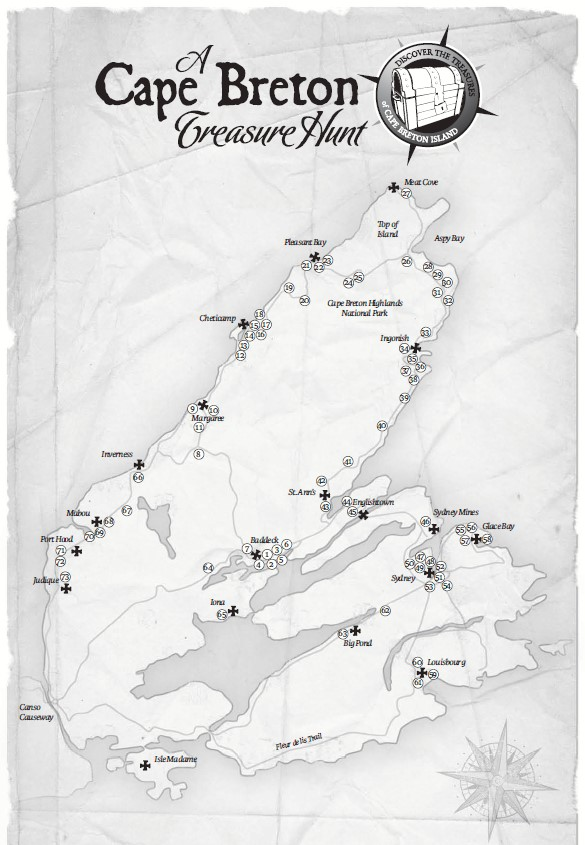 Treasure Hunt map of Cape Breton